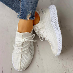 Women Casual Sneakers Lace-Up Breathable For Daily - zonechics