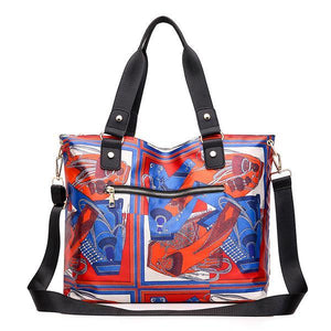 Large Capacity Vintage Printed Tote - zonechics