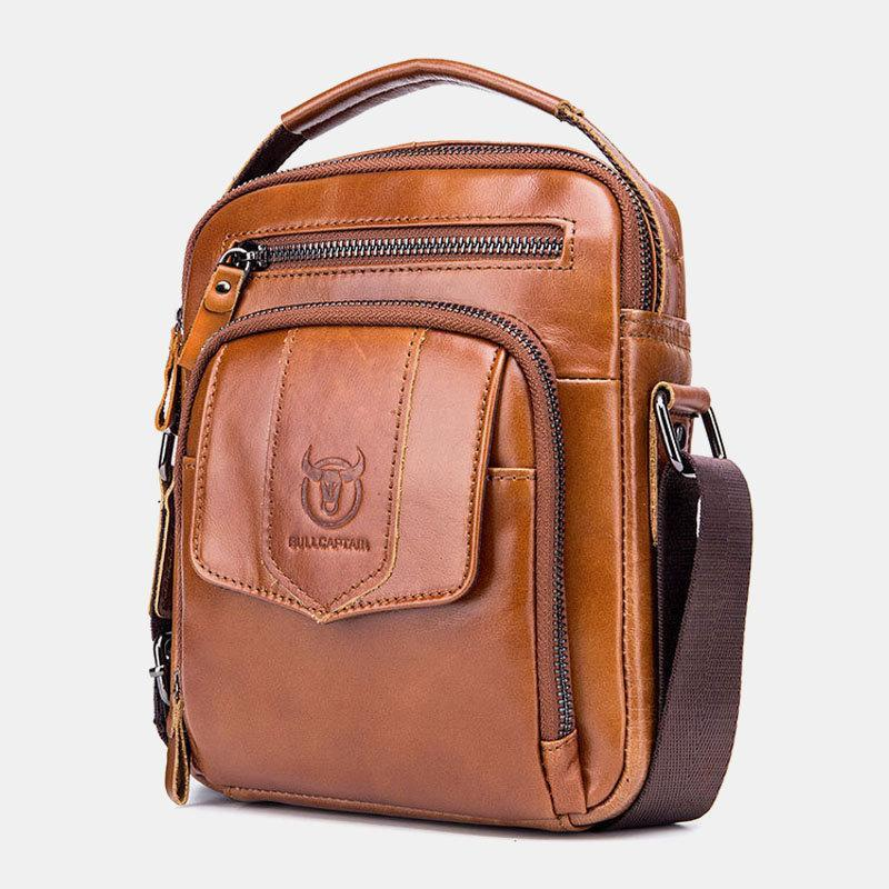Men's Casual Leather Business Vintage Crossbody Bag - zonechics