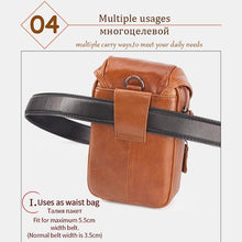 Load image into Gallery viewer, Men's Genuine Leather Phone Purse Crossbody Bag - zonechics