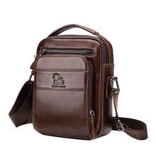 Load image into Gallery viewer, Men's Solid Bag Genuine Leather Crossbody Bag - zonechics