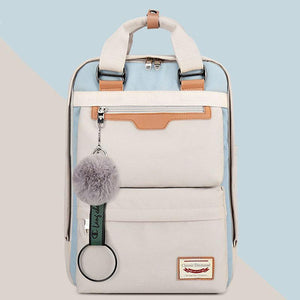 Multi-Pocket Color Block Fashion Patchwork Backpack - zonechics