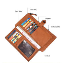 Load image into Gallery viewer, RFID Anti-theft Multi-Slot Wallet - zonechics