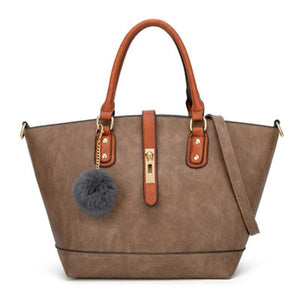 Simply Fashion Contrast Color Tote - zonechics