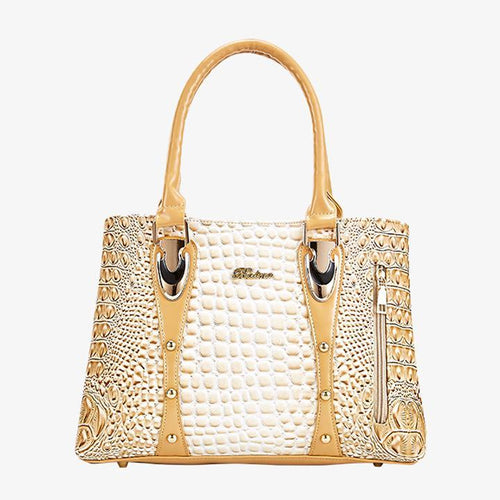 Top Handle Satchel Handbags Crocodile Bag - zonechics
