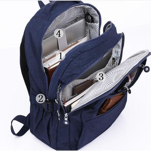Unisex Multi-Pocket Laptop School Backpack - zonechics