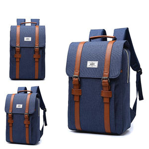 Unisex Vintage Business Laptop Backpack - zonechics