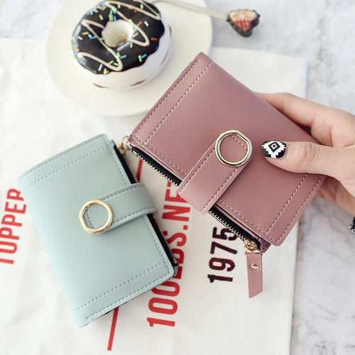 Women Wallets Small Fashion  Leather Purse - zonechics