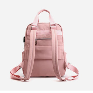 Women's Large Capacity Solid Laptop Backpack - zonechics