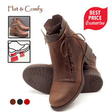 Load image into Gallery viewer, Ladies outdoor country lace-up boots - zonechics