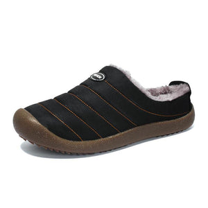 Men's Casual Fashion Solid Waterproof Soft Warm Slippers - zonechics