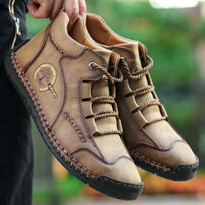 Men Leather Boots Vintage Soft Casual Boots - zonechics