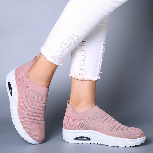 Women's Casual Sneakers Knitted Sock Shoes With Platform - zonechics