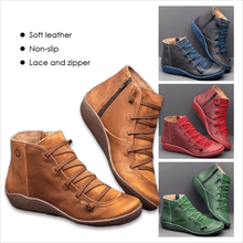 Load image into Gallery viewer, Women's Lightweight Comfortable Flat Heel  Boots - zonechics