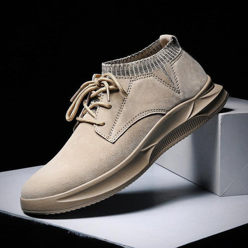Men Leather Shoes Slip Resistant Lace-up Casual Shoes - zonechics