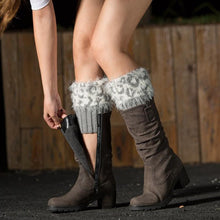 Load image into Gallery viewer, Women's Knitted Fur Flip Leopard Socks - zonechics