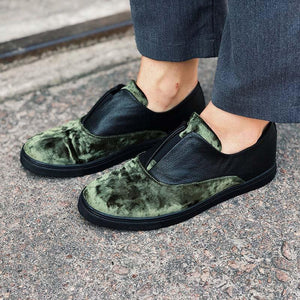 Men's Leather Oxfords Flats Slip ons - zonechics