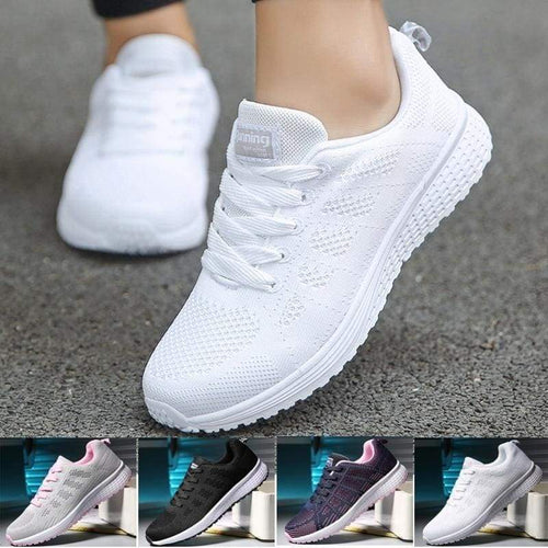 Unisex Casual Sport Running Shoes Breathable Mesh Light Weight Sneakers - zonechics