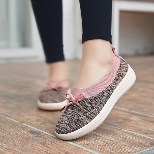 Breathable Mesh Soft Sole Flat Casual Shoes - zonechics