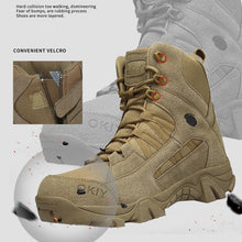 Load image into Gallery viewer, Men Military Comfortable Work Army Desert Combat Ankle Boots - zonechics