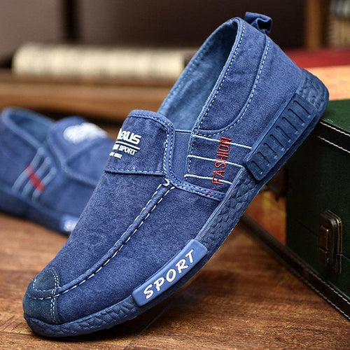 Men Canvas Casual Shoes Comfy Soft Sole Slip-on Shoes - zonechics