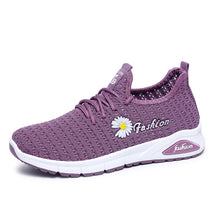 Load image into Gallery viewer, Women Daisy Decor Breathable Mesh Lightweight Casual Sport Shoes - zonechics
