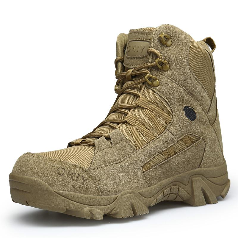 Men Military Comfortable Work Army Desert Combat Ankle Boots - zonechics