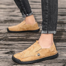 Load image into Gallery viewer, Men Hand Stitching Soft Slip On Comfort Leather Loafers - zonechics