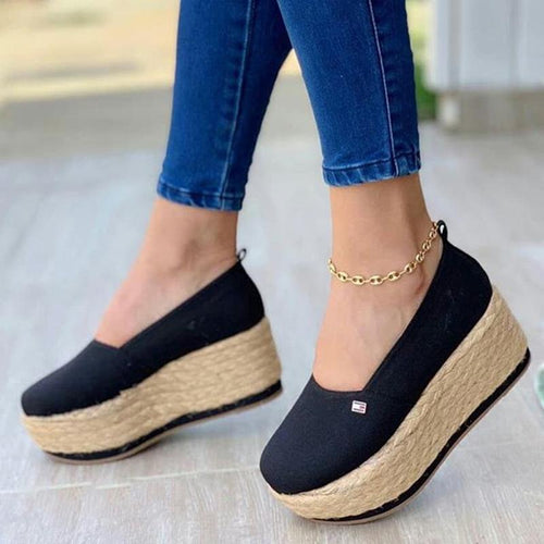 Women's Casual Platform Wedge Loafers & Flats - zonechics