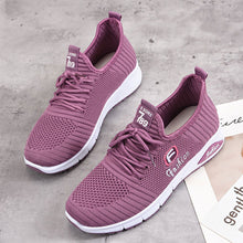 Load image into Gallery viewer, Women Letter Pattern Fabric Breathable Wearable Sports Casual Sneakers - zonechics