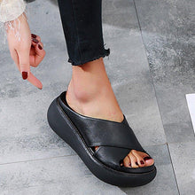 Load image into Gallery viewer, Women's Slide Sandals Open Toe Comfy Platform Sandals - zonechics