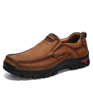 Men Leather Shoes Breathable Slip-on Casual Shoes - zonechics