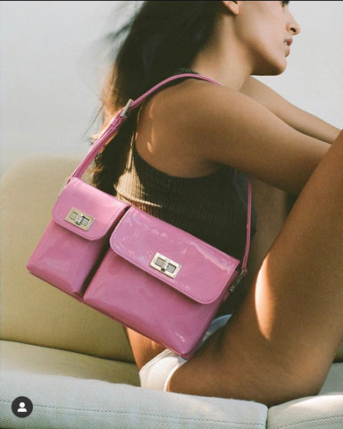 By Far pink bag