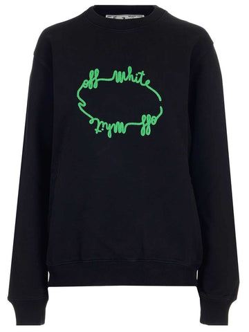 Off-white circle scribble print sweater
