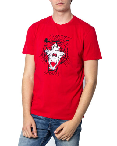 Just Cavalli Tiger Red Tee Mens available of fmru clothing