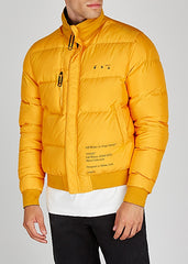 Off-white Reversible Yellow & Black Winter Jacket Front