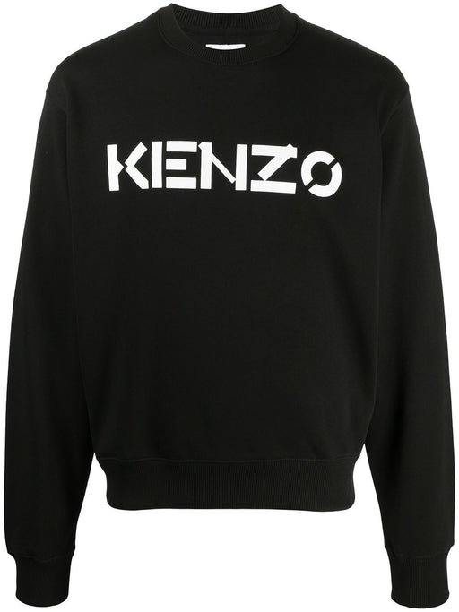 KENZO MEN'S PRINT LOGO COTTON SWEATER