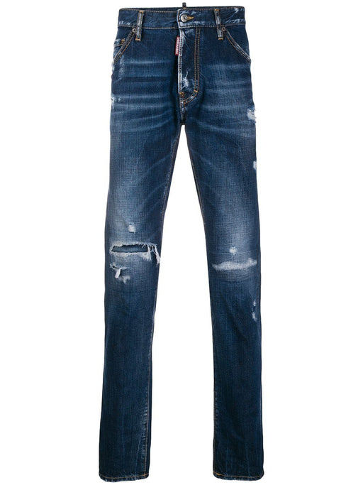 DSQUARED2 MEN'S RIPPED JEANS