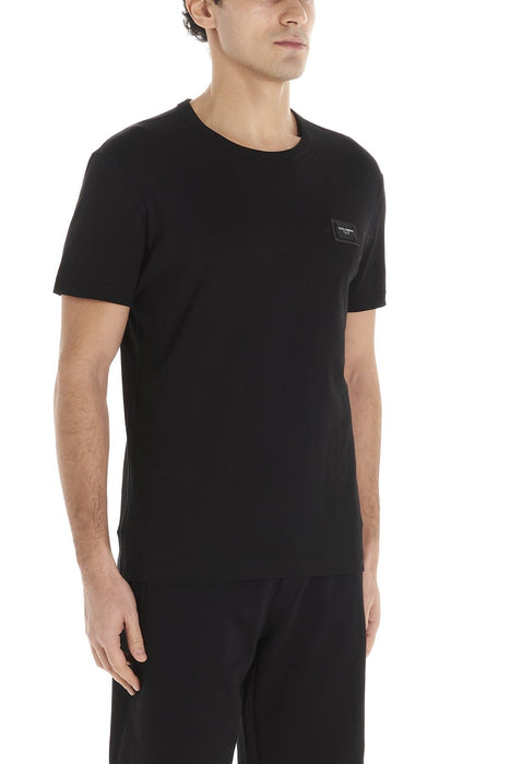 DOLCE E GABBANA MEN'S RELAXED LOGO BOX T-SHIRT