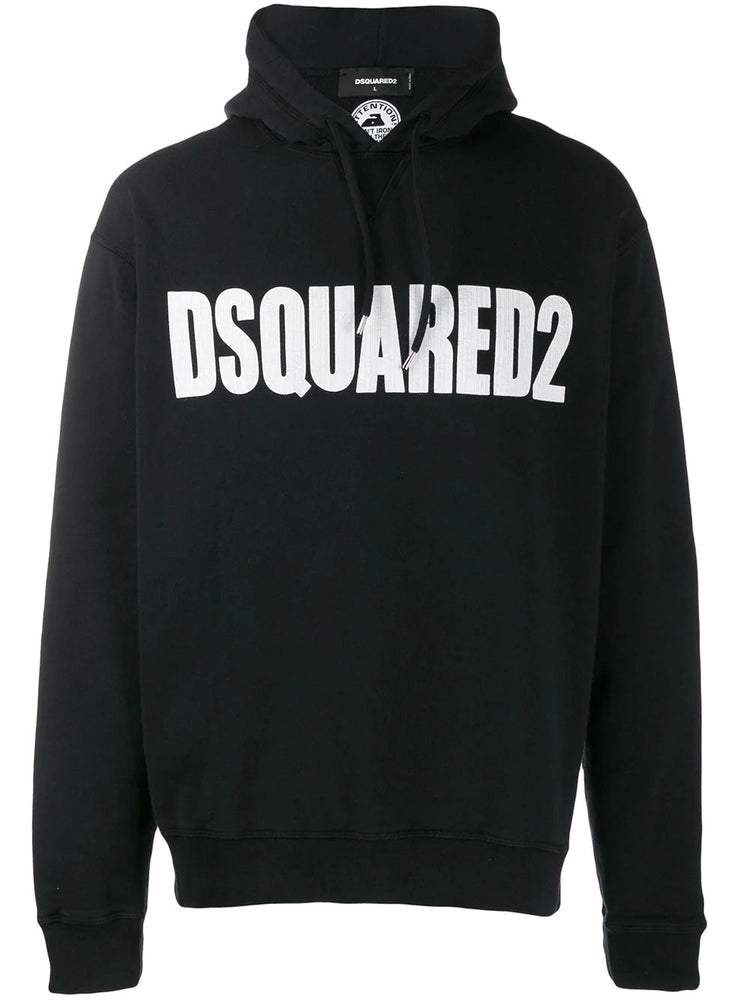 DSQUARED2 MEN'S LOGO PRINT COTTON HOODY