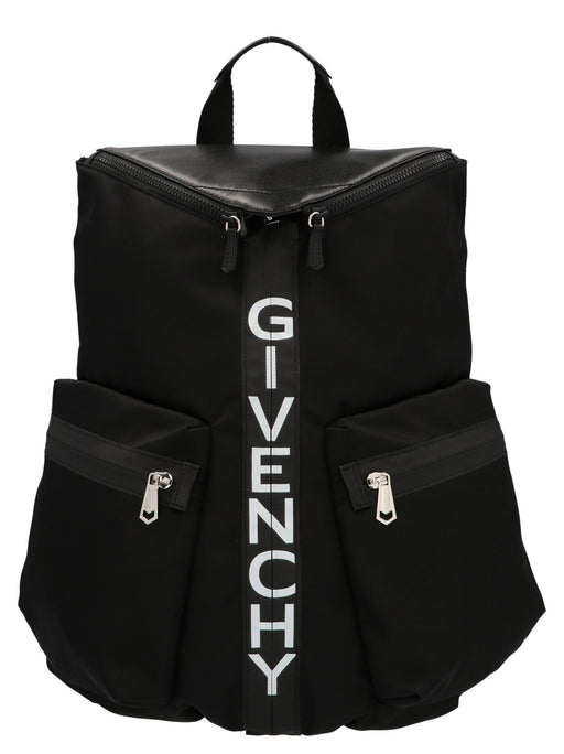 GIVENCHY BLACK SPECTRE LOGO DETAIL BACKPACK
