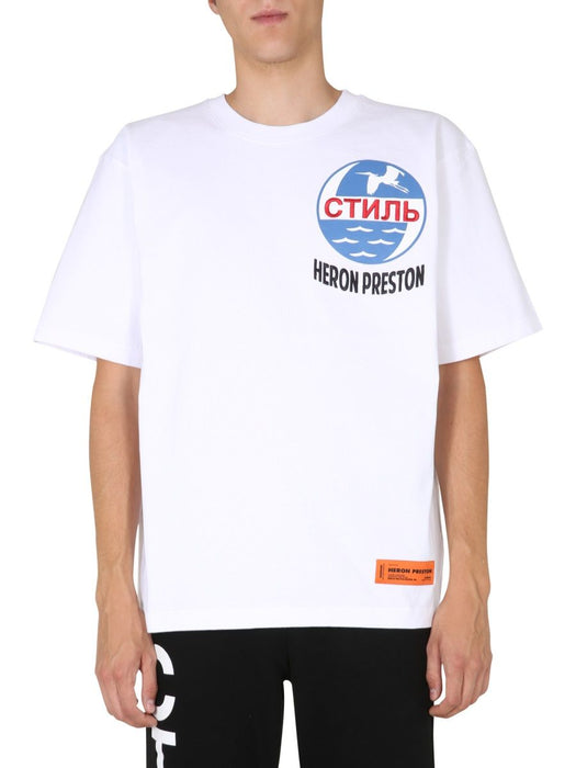 HERON PRESTON MEN'S GRAPHIC PRINT T-SHIRT