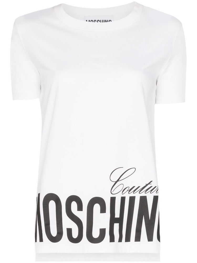 MOSCHINO WOMEN'S LOGO PRINT COTTON T-SHIRT