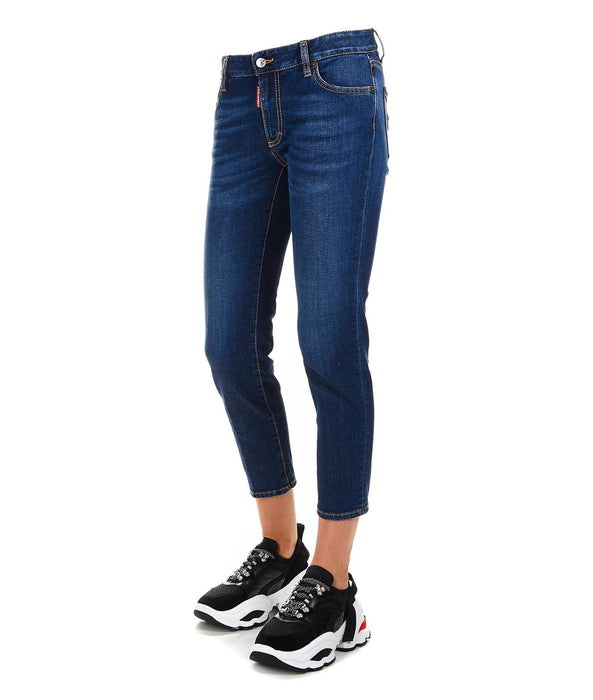 DSQUARED2 WOMEN'S CROPPED SKINNY JEANS