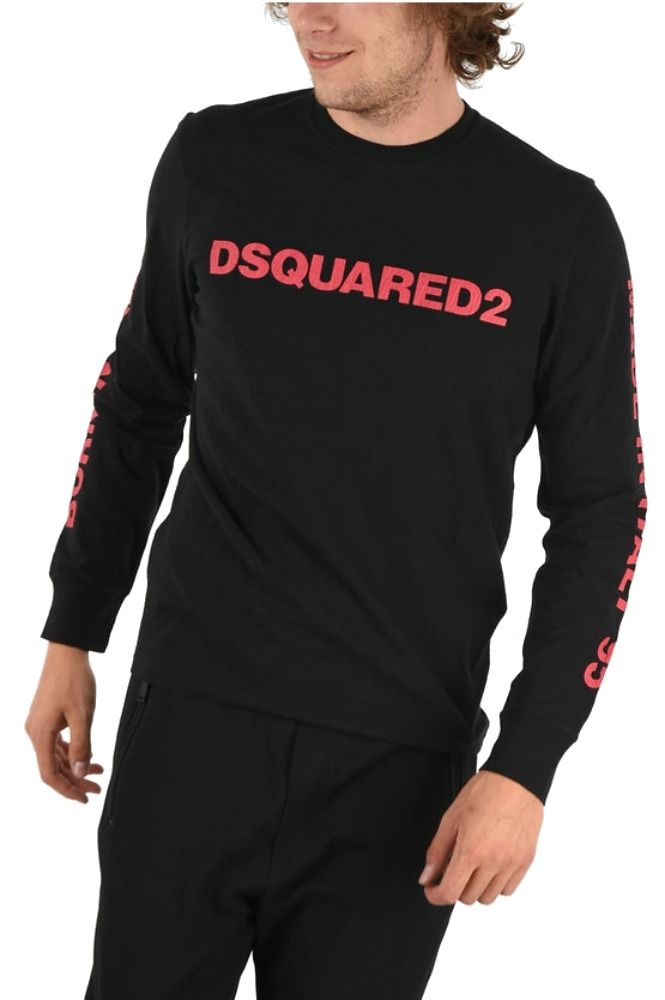 DSQUARED2 MEN'S LOGO PRINT LONG-SLEEVE T-SHIRT