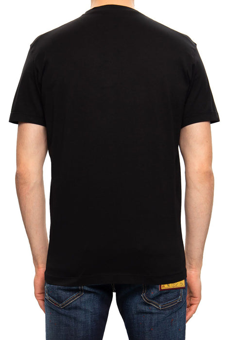 DSQUARED2 MEN'S LOGO PRINT COTTON T-SHIRT