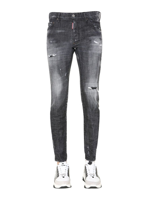 DSQUARED2 MEN'S STONEWASH RIPPED SLIM-FIT JEANS