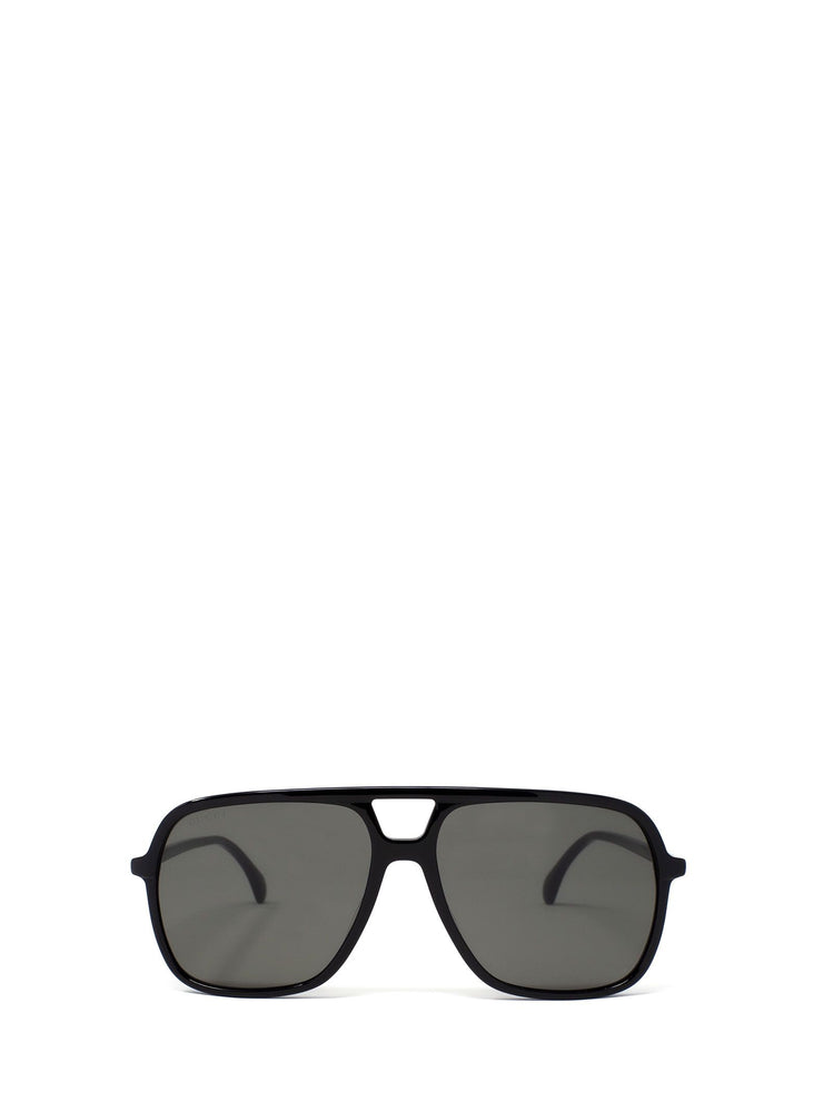 GUCCI MEN'S OVERSIZE-FRAME SUNGLASSES