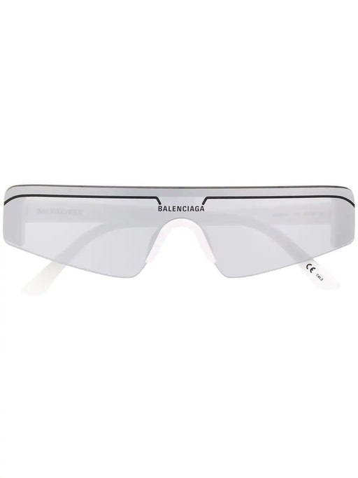 BALENCIAGA MEN'S SKI RECTANGULAR- FRAME SUNGLASSES