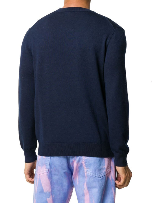 KENZO MEN'S PRINT LOGO WOOL SWEATER
